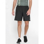 Reebok Men's Polyester Black Workout Sports Shorts
