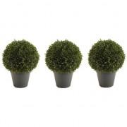 Bellatio flowers & plants 3x Kunstplanten Boxwood Ball 35 cm