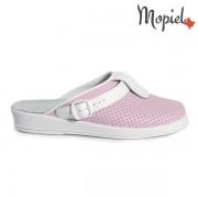 Papuci medicinali din piele naturala 74-04/roz-alb