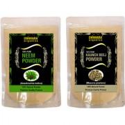 Donnara Organics 100% Natural Neem Powder and Kaunch Beej powder Combo pack of 2 of 150 gms(300 gms)