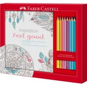 Set Cadou Feel Good 8 Creioane Colorate Grip + Carte Colorat Faber-castell