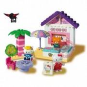 Set BIG cuburi de constructie Hello Kitty - Happy Bar cu 41 de elemente
