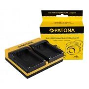 Fujifilm Fuji NP-W126 FinePix HS30 EXR HS30EXR HS-30EXR HS33 dupla töltő m. USB kábellel ()