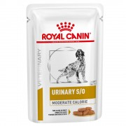 12x100g Urinary S/O Moderate Calorie Royal Canin Veterinary Diet saquetas cães