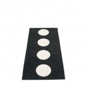 pappelina Vera Outdoor-Teppich - schwarz / vanille 70 x 150cm