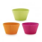 Lékué® 6db-os amerikai muffin forma készlet, vegyes színekben