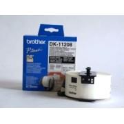 Etichete de hârtie mari Brother DK11208 pentru adrese 38 mm x 90 mm, negru/alb, 400 buc