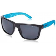 Arnette Witch Doctor AN4177-07 Polarized Sport Sunglasses,Gloss Black/Fuzzy Inked Aqua/Polarized Grey,55 mm