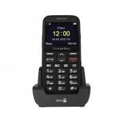 Primo by DORO 366 Senioren mobiele telefoon Met laadstation, SOS-knop Zwart