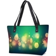 Snoogg by Pack Of 2 Abstract Colorful Bubbles Combo Tote Shopping Grocery Bag With Coin Pencil Purse Shoulder Bag(Multicolor, 15 L)