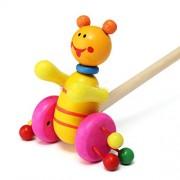 AST Works Woodens Kids Developmental ToyAnimal Patterns Baby Push*Along Walker Toys GS