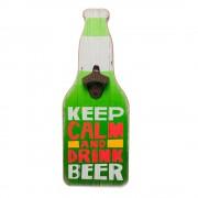 "Tablou desfacator de bere ""Keep calm and drink beer"""