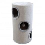 vidaXL Siva kućica za mačke / stup za oštrenje kandža 70 cm