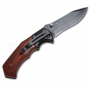 Cuchillo plegable multifuncion para exteriores - rojo