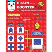 Play Panda Brain Booster Set One Having 50+ Puzzles To Be Solved Using 7 Different Magnetic Shapes For Boys & Girls Ages 6 - 99