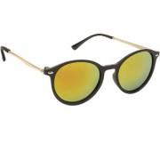 Arzonai Black Parker Oval UV Protection Sunglasses For Men & Women [MA-302-S4 ]