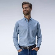 Tailor Store Trendig ljusblå jeansskjorta