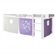 IDIMEX Vorhang PRINZESSIN lila-weiß