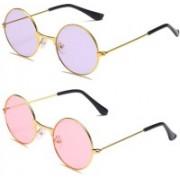 SRPM Round Sunglasses(Pink, Violet)
