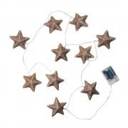 IN THE SKY Světelný řetěz hvězdy 10 světel - růžová zlatá