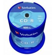 CD-R lemez, 700MB, 52x, hengeren, VERBATIM DataLife (CDV7052B100DL)