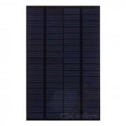 Policristalino Panel solar Silicio 4.2W 18V de salida - Negro + Verde