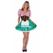 Oktoberfest groen met rood jurkje voor dames