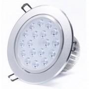 Spot LED 18x1W Rotund Mobil Argintiu