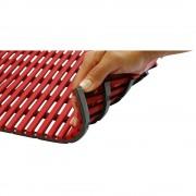 Nassraummatte, antibakteriell 10-m-Rolle rot, Breite 1200 mm