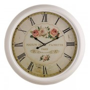Oak Furnitureland Clocks - Florette Wall Clock - Oak Furnitureland
