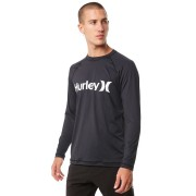 Hurley One And Only Relaxed Ls Mens Rash Vest Black
