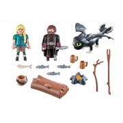 Playmobil Dragons and ndash Hiccup Astrid Si Pui De Dragon How to train your dragon