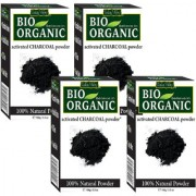 Indus Valley Bio Organic Activated Charcoal Powder Blackheads Remover-Set of 4