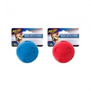 Nerf Dog Soccer Squeak Ball Dog Toy, 2.5-in, 2 count
