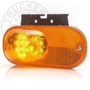LED irányjelző és helyzetjelző lámpa 12/24V prizmával