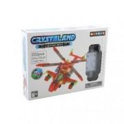 Puzzle cuburi cu LED - Elicopter - 222 piese