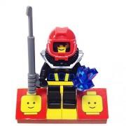 "Minifigure Packs: Lego Aquazone Bundle ""(1) Aquasharks Shark Scout Diver"" ""(1) Figure Display Base"" ""(2) Figure Accessorys (Spear Gun & 5 Point Crystal)"""