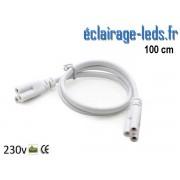 Câble raccord de 1 mètre Tube LED T8 et T5 ref cb-07