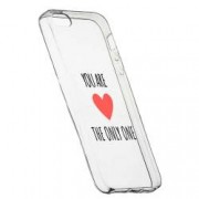 Husa Silicon Transparent Slim You Are The Only One 114 Apple iPhone 5 5S SE