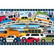 Puzzle de podea Blocaj in trafic, Melissa and Doug, 24 piese