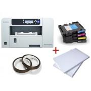PACHET SUBLIMARE 1: Imprimanta sublimare RICOH SG2100N+4 cartuse cerneala+Hartie sublimare A4+Banda termorezistenta
