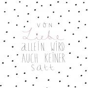 """räder Papierservietten """"Von Liebe allein.."""""""