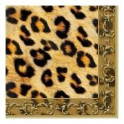 Ambiente 40x Luipaard dieren thema servetten 33 x 33 cm. - Feestservetten