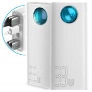 Baseus Amblight 4xUSB %26 USB-C Power Bank - 30000mAh - White