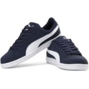 Puma Puma Smash Nubuck Sneakers For Men(Navy)