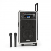 Vonyx ST-100 MK2 Sistema de sonido PA portátil con Bluetooth CD USB SD MP3 batería y UHF (Sky-170.010)