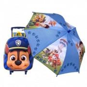 Paw Patrol CHASE ghiozdan Troller cu umbrela inclusa