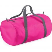 Bagbase Fuchsia roze ronde polyester sporttas/weekendtas 32 liter