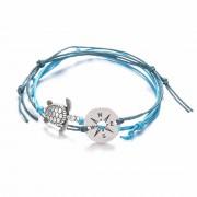Két részes teknős – iránytű karkötő – kék