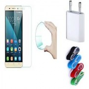 Vivo Y51L Curved Edge 9h HD Flexible Tempered Glass with Nylon USB Travel Charger